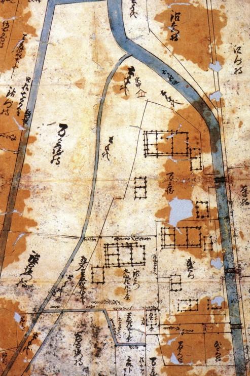 尊徳生家周辺敷地測量図